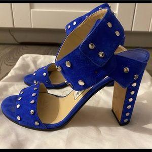 Jimmy Choo Veto 100 Cobalt Blue Suede Sandal 6.5